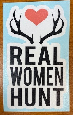Real Women Hunt | Antlers Sticker