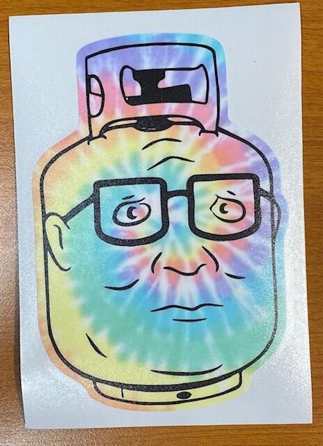 King of the Hill | Tie Dye Propane Hank Sticker