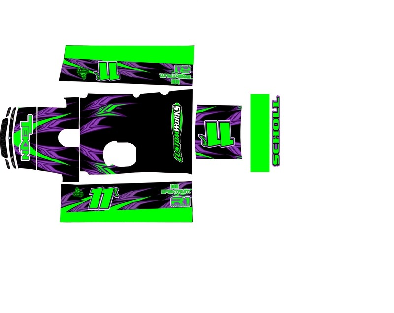 MR Kustoms HurriKane 2020 Late Model Wrap(Designed to Order)