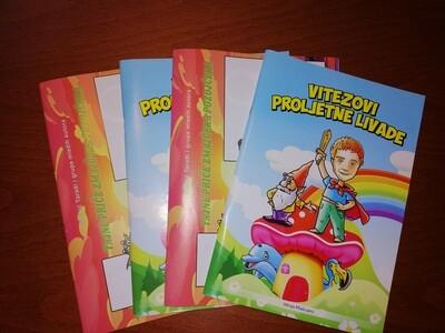 Bilježnice Vitezovi Proljetne livade i Tajne priče Zmajčeka Pozojčeka (4 kom u paketu)
