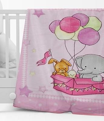 Κουβέρτα Βελουτέ Κούνιας 1024 Ροζ - Sunshine