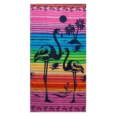 Πετσέτα Θαλάσσης Ζακάρ Flamingo 028 - Komvos