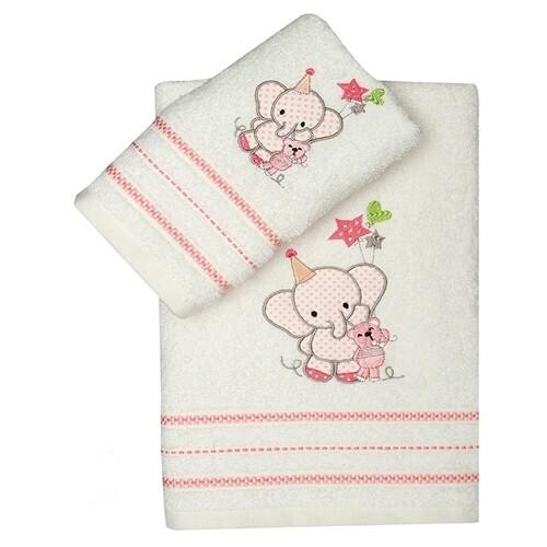 Σετ Πετσέτες 2 τεμ. Elephant Pink