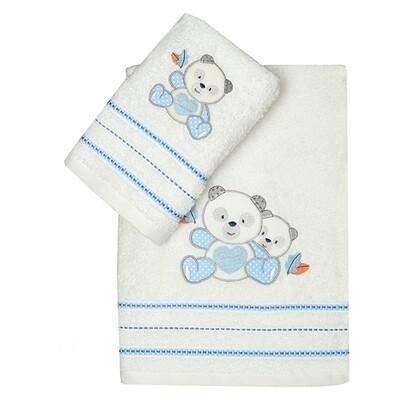 Σετ Πετσέτες 2 τεμ. Panda Blue