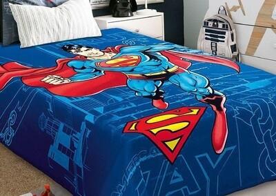 Κουβέρτα Βελουτέ Μονή Ισπανίας Superman - Belpla