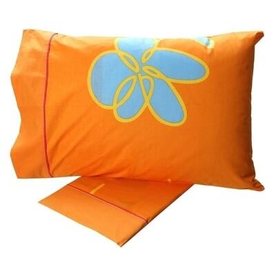 Σετ Σεντόνια Μονά Cotton Feelings 129 Orange - Sunshine