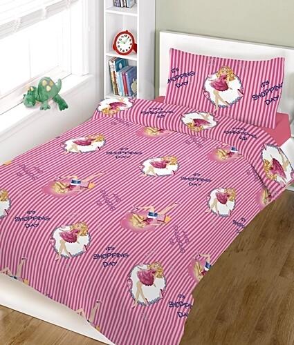 Παπλωματοθήκη Μονή Shopping Girl Cotton Line