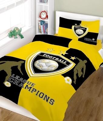 Πάπλωμα Μονό Champions Yellow-White Cotton Line