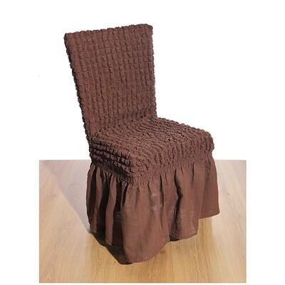Κάλυμμα Καρέκλας Γκοφρέ Ελαστικό Brown