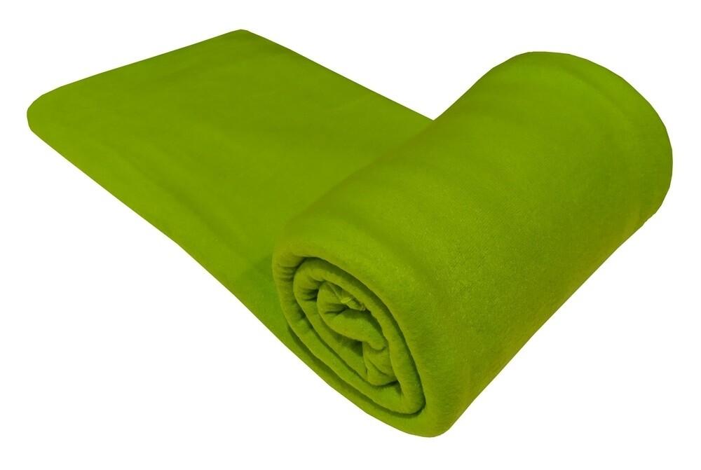 Κούβερτα Fleece Μονή Plain Green - Komvos