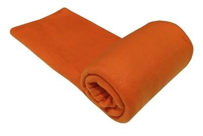 Κούβερτα Fleece Μονή Plain Orange - Komvos