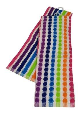 Σετ Ποτηρόπανα 2τεμ. Πετσετέ LUXURY Rainbow - Komvos