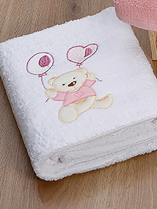 Σετ Πετσέτες 2 τεμ. Baloon White-Pink