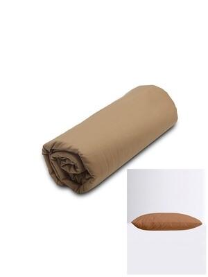 Σετ Κατωσέντονο Λάστιχο Μονό & 2 Μαξιλαροθήκες  Brown Menta - Sunshine