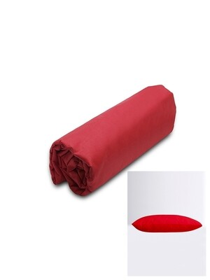 Σετ Κατωσέντονο Λάστιχο Μονό & 2 Μαξιλαροθήκες Red Menta - Sunshine