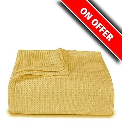 Κουβέρτα Πικέ Υπέρδιπλη Yellow - Sunshine