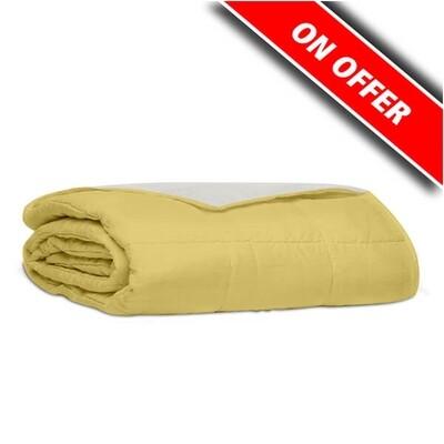 Κουβερλί Υπέρδιπλο Βαμβάκι 100% Percale Yellow-Ecrou - Sunshine