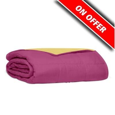 Κουβερλί Μονό Βαμβάκι 100% Percale Pink-Yellow - Sunshine
