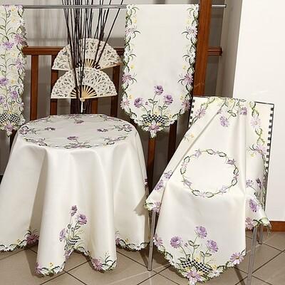 Τραπεζοκαρέ Κέντημα 34525 Lilac - Ilis Home