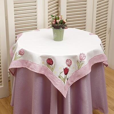 Τραπεζοκαρέ Κέντημα 8030360 Pink - Ilis Home