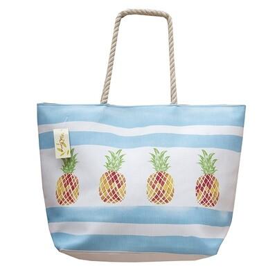 Τσάντα Σταμπωτή Fruits 45Χ45 εκ. 2766 L Ανανάς Σιέλ - Ilis Home
