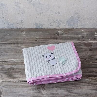 Κουβέρτα Πικέ Λίκνου Lola Panda - Nima Home