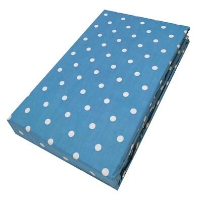 Σεντόνι Λάστιχο Μονό Dots Light Blue - Komvos