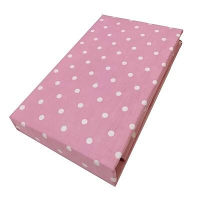 Σεντόνι Λάστιχο Διπλό Dots Light Pink - Komvos