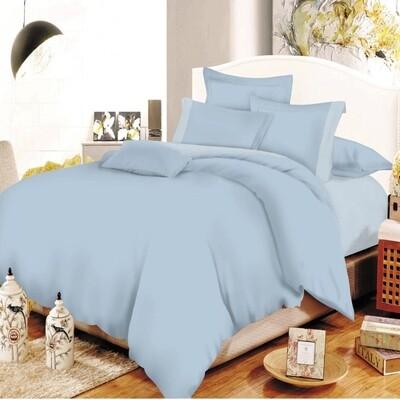 Παπλωματοθήκη Υπέρδιπλη Cotton Line Lavender - Baby Blue - Komvos