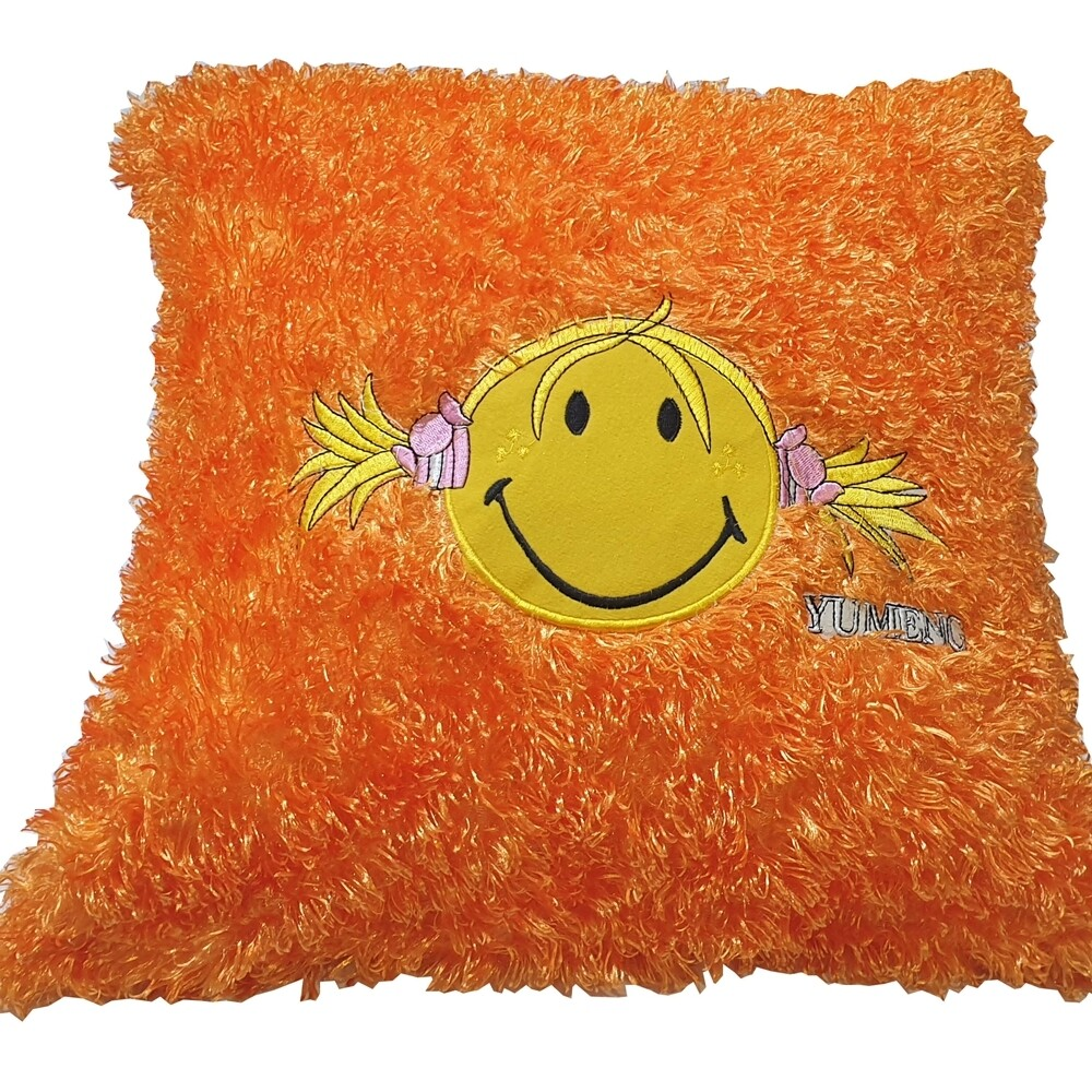 Μαξιλάρι Με Γέμιση Smiley Face Oragne - Komvos