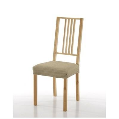 Σετ 2 τεμ. Κάλυμμα Κάθισμα Καρέκλας Ελαστικό Akari Μπεζ - Mc Decor