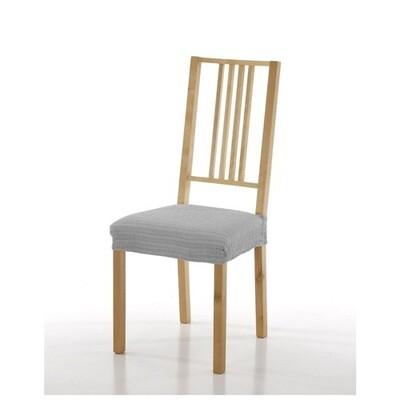 Σετ 2 τεμ. Κάλυμμα Κάθισμα Καρέκλας Ελαστικό Akari Ανοιχτό Γκρι - Mc Decor