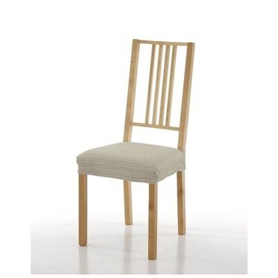 Σετ 2 τεμ. Κάλυμμα Κάθισμα Καρέκλας Ελαστικό Akari Εκρού - Mc Decor