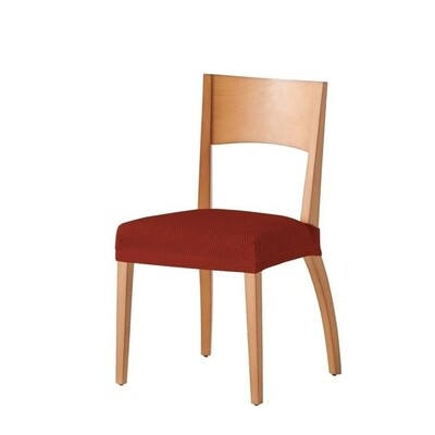 Σετ 2 τεμ. Κάλυμμα Κάθισμα Καρέκλας Ελαστικό Tunez Κεραμιδί - Mc Decor