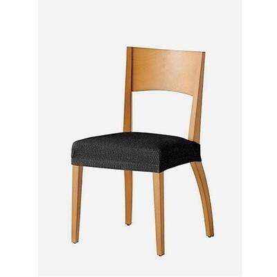 Σετ 2 τεμ. Κάλυμμα Κάθισμα Καρέκλας Ελαστικό Tunez Μαύρο - Mc Decor