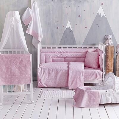Σετ Παπλωματοθήκη Κούνιας Bright Pink - Rythmos