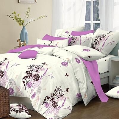 Παπλωματοθήκη Υπέρδιπλη Cotton Line Primavera Lilac - Komvos
