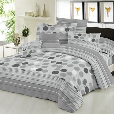 Πάπλωμα Διπλό Cotton Line Bubbles Gray - Komvos