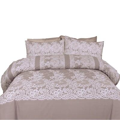 Μαξιλαροθήκες Ζευγάρι Dantella Gray Βαμβάκι 100% - Cotton Senses