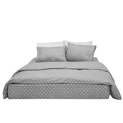 Μαξιλαροθήκες Ζευγάρι Dots Gray Βαμβάκι 100% - Cotton Senses