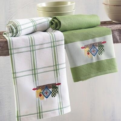 Σετ Πετσέτες Κουζίνας Πικέ 2 τεμ. Gloves - Rythmos