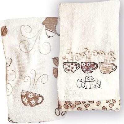 Σετ Πετσέτες Κουζίνας Βελουτέ 2 τεμ. Coffee - Rythmos