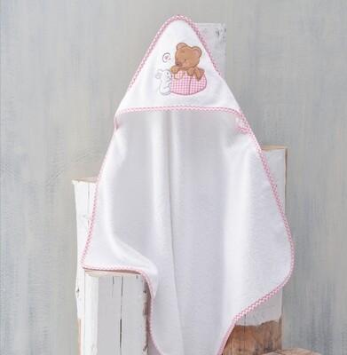 Κάπα Βρεφική Bunny & Bear Pink - Rythmos