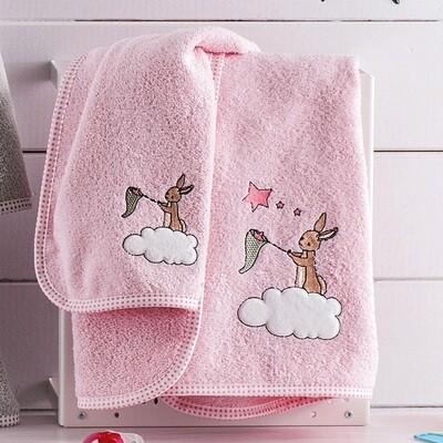 Σετ Πετσέτες 2 τεμ. Κέντημα Dreamtime Pink - Ruthmos