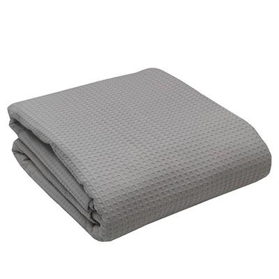 Κουβέρτα Πικέ Υπέρδιπλη Cotton Dark Gray - Sunshine