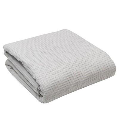 Κουβέρτα Πικέ Υπέρδιπλη Cotton Light Gray - Sunshine