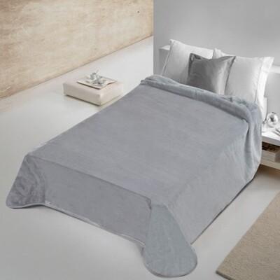 Κουβέρτα Βελουτέ Μονή 802 Gray - Adam Home