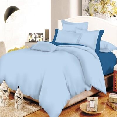 Παπλωματοθήκη Υπέρδιπλη Cotton Line Sky Blue-Blue - Komvos
