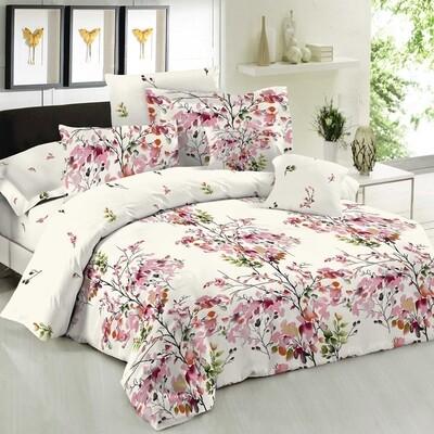 Παπλωματοθήκη Μονή Cotton Line Nature Pink - Komvos