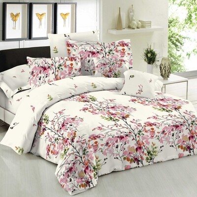 Πάπλωμα Διπλό Cotton Line Nature Pink - Komvos